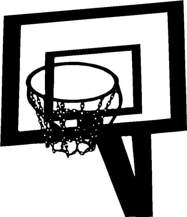 Stickers panier de basket for Panier de basket chambre